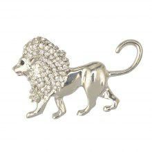 Gold Lion Brooch Men Suit Harajuku Broches Lapel Hijab Pins Broach Cheap Male Jewelry Acccessories