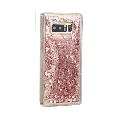 Rose Gold Heart Liquid TPU Sand Case for Samsung Galaxy Note 8
