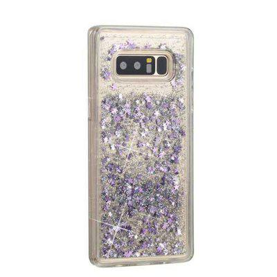 Silver Sand Purple Five-Pointed Star Liquid TPU Sand Case for Samsung Galaxy Note 8