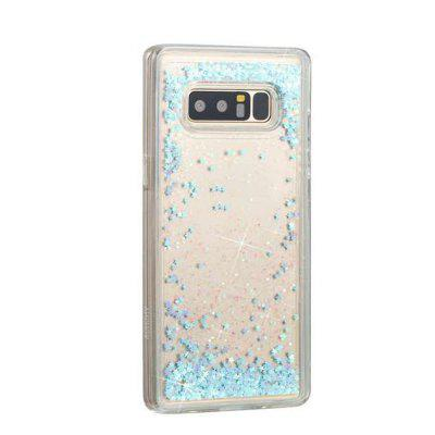 Silver Colored Stars Liquid TPU Sand Case for Samsung Galaxy Note 8