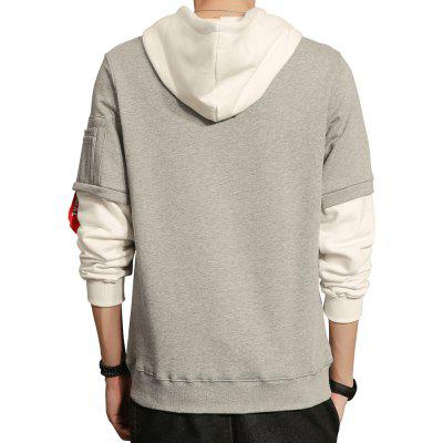 MenS Casual Letter-Print HoodieMens Hoodies &amp; Sweatshirts<br>MenS Casual Letter-Print Hoodie<br><br>Fabric Type: Broadcloth<br>Material: Cotton, Polyester<br>Package Contents: 1 x Hoodie<br>Shirt Length: Regular<br>Sleeve Length: Full<br>Style: Active<br>Weight: 0.4400kg
