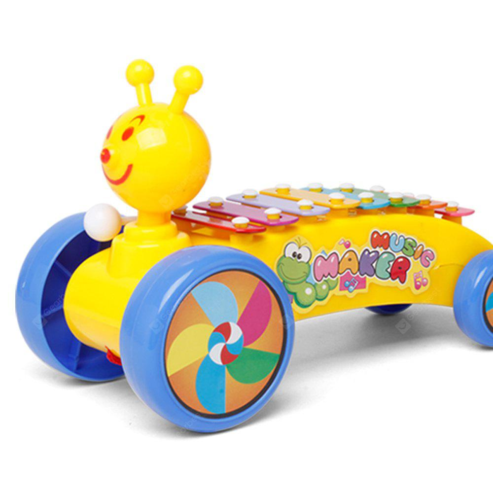 Giocattoli di Plastica per Bambini Lovely knock Snail Drag Eight Piano Pulley Function Musical Instrument