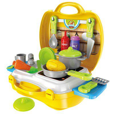 Children Playing Set  Suitcase Simulation Kitchen Toys Plastic Tableware with Medical Kit BinPretend Play<br>Children Playing Set  Suitcase Simulation Kitchen Toys Plastic Tableware with Medical Kit Bin<br><br>Age: 3 Years+<br>Applicable gender: Unisex<br>Design Style: Cartoon<br>Features: Educational<br>Gender: Unisex<br>Material: ABS<br>Package Contents: 1 x Set of Toys<br>Package size (L x W x H): 34.00 x 25.00 x 10.00 cm / 13.39 x 9.84 x 3.94 inches<br>Package weight: 0.5752 kg<br>Product weight: 0.4793 kg<br>Small Parts: Yes<br>Type: Tool Toy<br>Washing: Yes