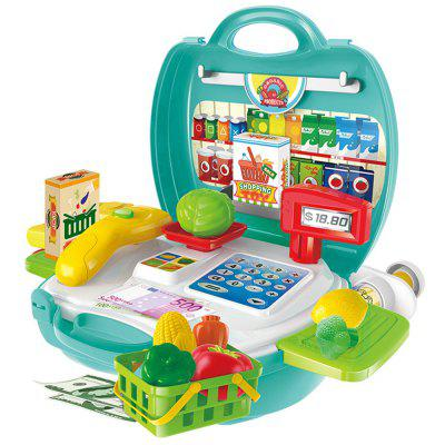 Children Playing Set  Suitcase Simulation Kitchen Toys Plastic Tableware with Medical Kit BinPretend Play<br>Children Playing Set  Suitcase Simulation Kitchen Toys Plastic Tableware with Medical Kit Bin<br><br>Age: 3 Years+<br>Applicable gender: Unisex<br>Design Style: Cartoon<br>Features: Educational<br>Gender: Unisex<br>Material: ABS<br>Package Contents: 1 x Set of Toys<br>Package size (L x W x H): 34.00 x 25.00 x 10.00 cm / 13.39 x 9.84 x 3.94 inches<br>Package weight: 0.5472 kg<br>Product weight: 0.4560 kg<br>Small Parts: Yes<br>Type: Tool Toy<br>Washing: Yes