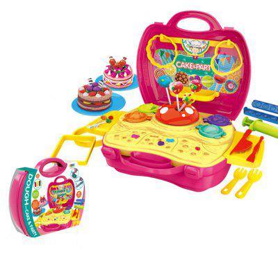 Children Playing Set  Suitcase Simulation Kitchen Toys Plastic Tableware with Medical Kit Bin