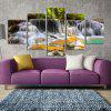 Modern Frameless Canvas Prints of Waterfall for Home Decoration 5pcs - COLORFUL
