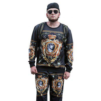 2017 Autumn and Winter New Trend of Large Size Men'S Sweatshirt PCW70034B