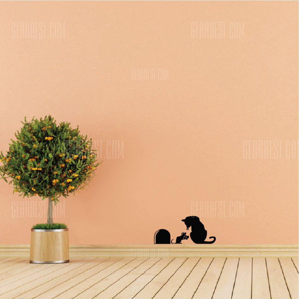 DSU Creative Cartoon Cat Mouse Hole Wall Sticker Funny Christmas ...