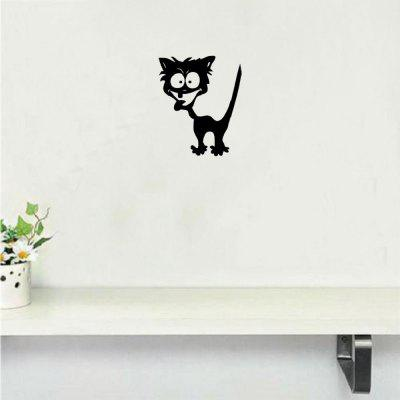 DSU Funny Crazy Cat Wall Sticker Cartoon Animal Vinyl Decalcomania da muro per camera da letto Home Decor