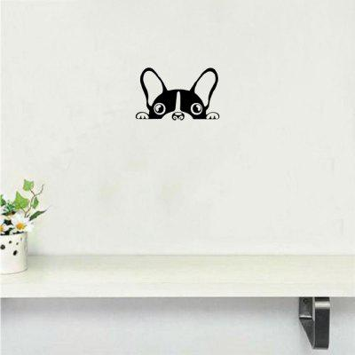 Cute Dog Wall Sticker Creative Cartoon Puppy Vinyl Wall Decal For Kids Room  Bedroom