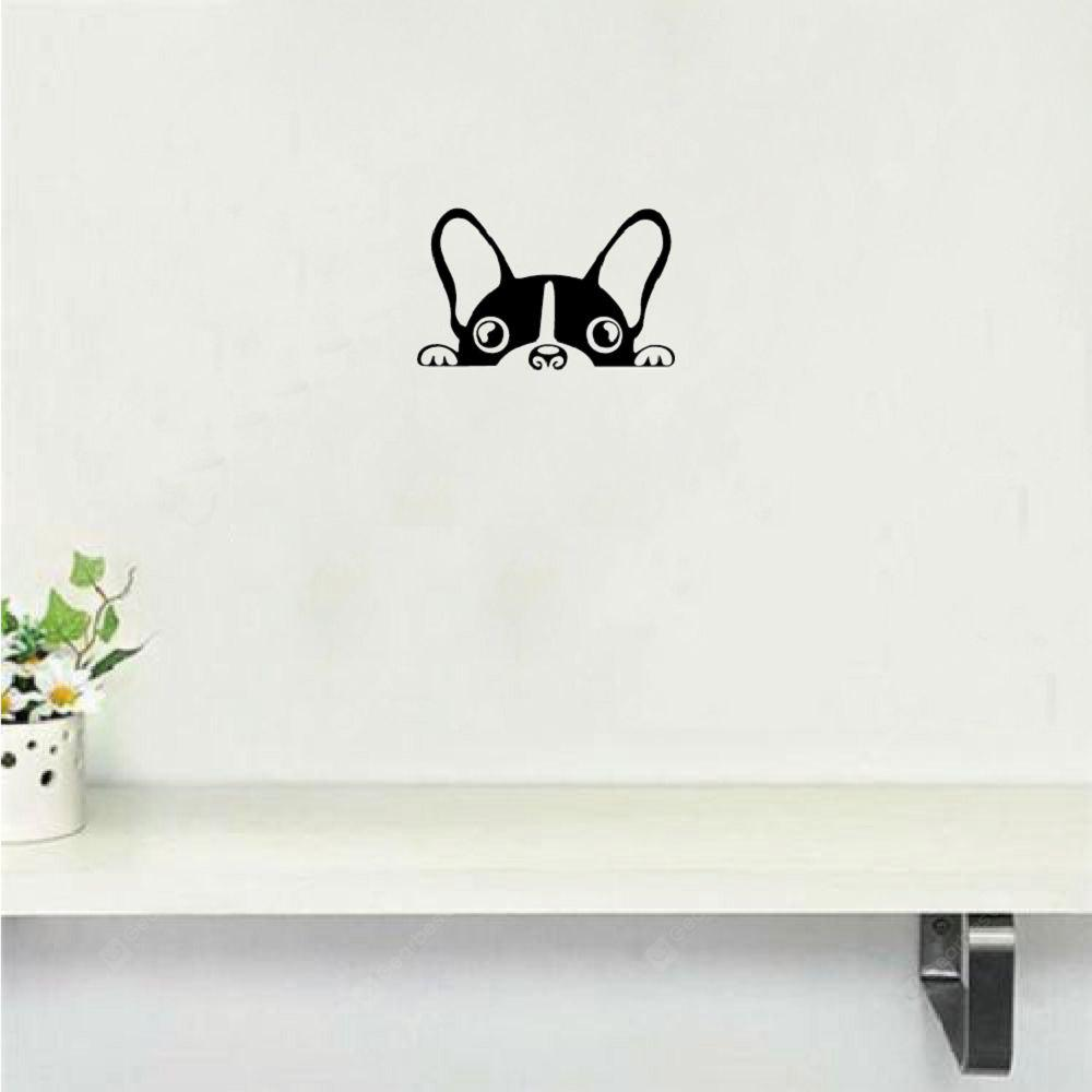 Cute Dog Wall Sticker Creativo Cartoon Puppy Vinyl Decalcomania da muro per camera dei bambini Camera da letto