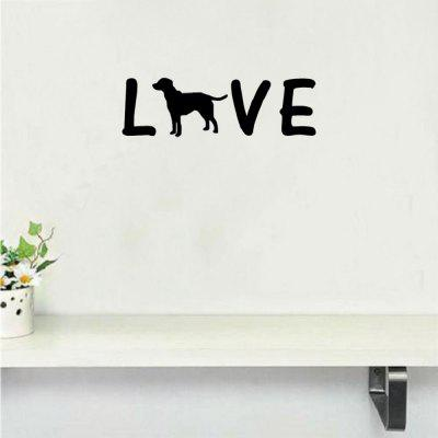 DSU Creative Love Dog Wall Sticker Cartoon Animal Vinyl Wall Decal For  Bedroom Home Decor ...