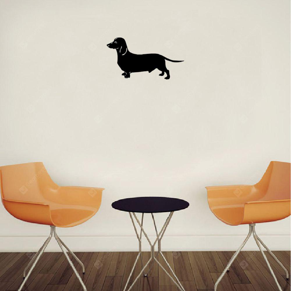 DSU Bassotto Silhouette Vinyl Wall Sticker Funny Cartoon Dog Decal per la camera dei bambini