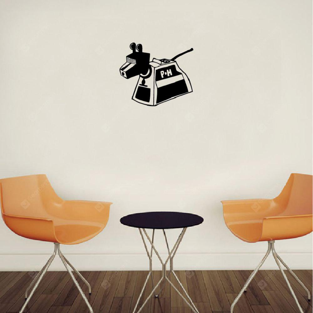 Dr Who K9 Robot Cane Silhouette Wall Sticker Creativo Cartoon Robot decorazione della parete del vinile