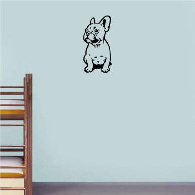 Adesivo da parete Silhouette Bulldog francese Cute Cartoon Pet Dog Vinyl Decalcomania da muro per camera