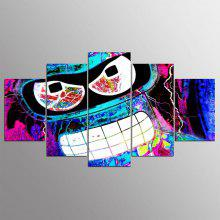 YSDAFEN 5 Panel Modern Bender Futurama Hd Canvas Art for Living Room Wall Picture
