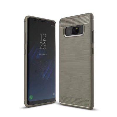Carbon Fiber Soft TPU Back Cover Case for Samsung Galaxy Note 8