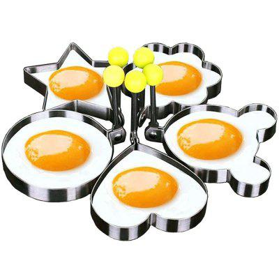 Cooking Tool Mold Sets For Egg Bread Chocolate Cake Biscuit Cookie Pancake For Kids and Lovers 5 in 1