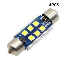 4PCS Super White 39mm 3030 6 SMD led Car Licence Plate Auto Dome Reading Light