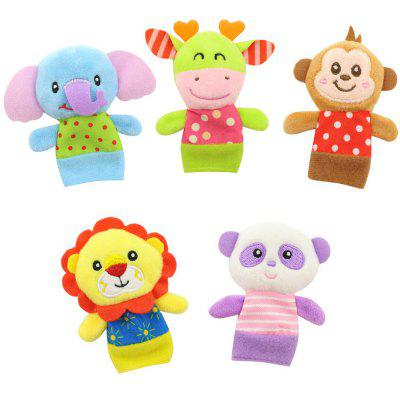 5 Pcs Baby Finger Puppets Set Cute Animals Baby Calm Toys