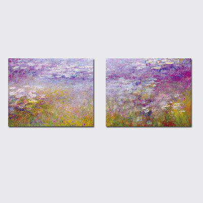 QiaoJiaHuaYuan No Frame Canvas World Famous Pittura Doppia Unione Pittura Monet Water Lilies