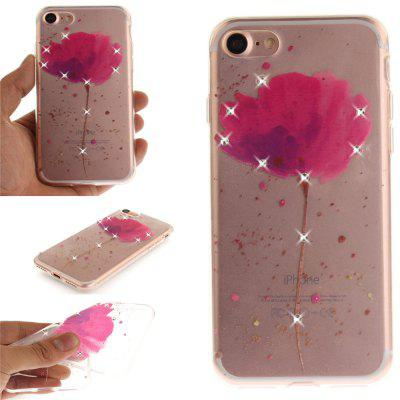 Song For Orchid Shining Diamond Soft Clear IMD TPU Phone Casing Tampa de Smartphone móvel Capa Shell para iPhone 7