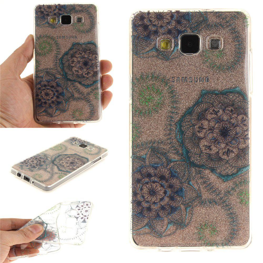 Blue Green Dream Flower Soft Clear IMD TPU Phone Casing Mobile Smartphone Cover Shell Case para Samsung A3 2015