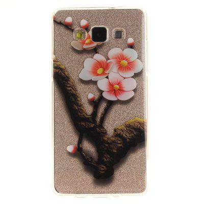 The Four Plum Flower Soft Clear IMD TPU Phone Casing Mobile Smartphone Cover Shell Case para Samsung A3 2015