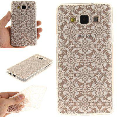 White Lace Soft Clear IMD TPU Phone Casing Mobile Smartphone Cover Shell Case para Samsung A3 2015
