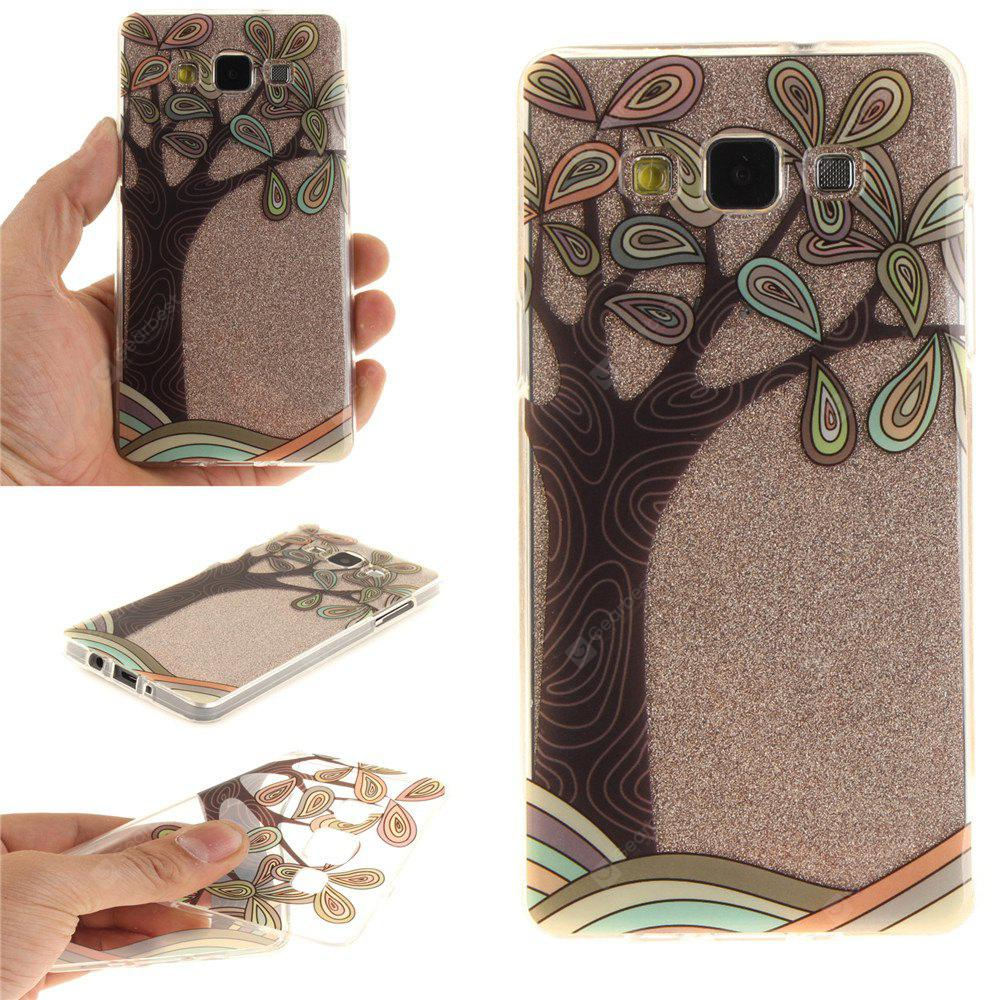 Hand Draw A Tree Soft Clear IMD TPU Phone Casing Mobile Smartphone Cover Shell Case para Samsung A3 2015