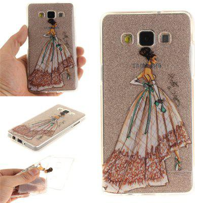 Hand-Painted Dress Soft Clear IMD TPU Phone Casing Mobile Smartphone Cover Shell Case for Samsung A3 2015