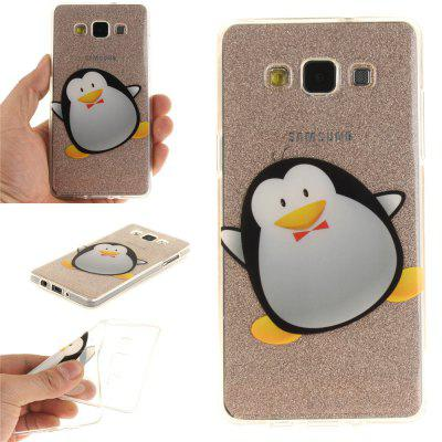 Cartoon Penguin Soft Clear IMD TPU Phone Casing Mobile Smartphone Cover Shell Case for Samsung A3 2015