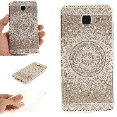 The White Mandala Soft Clear IMD TPU Phone Casing Mobile Smartphone Cover Shell Case for Samsung A310 2016