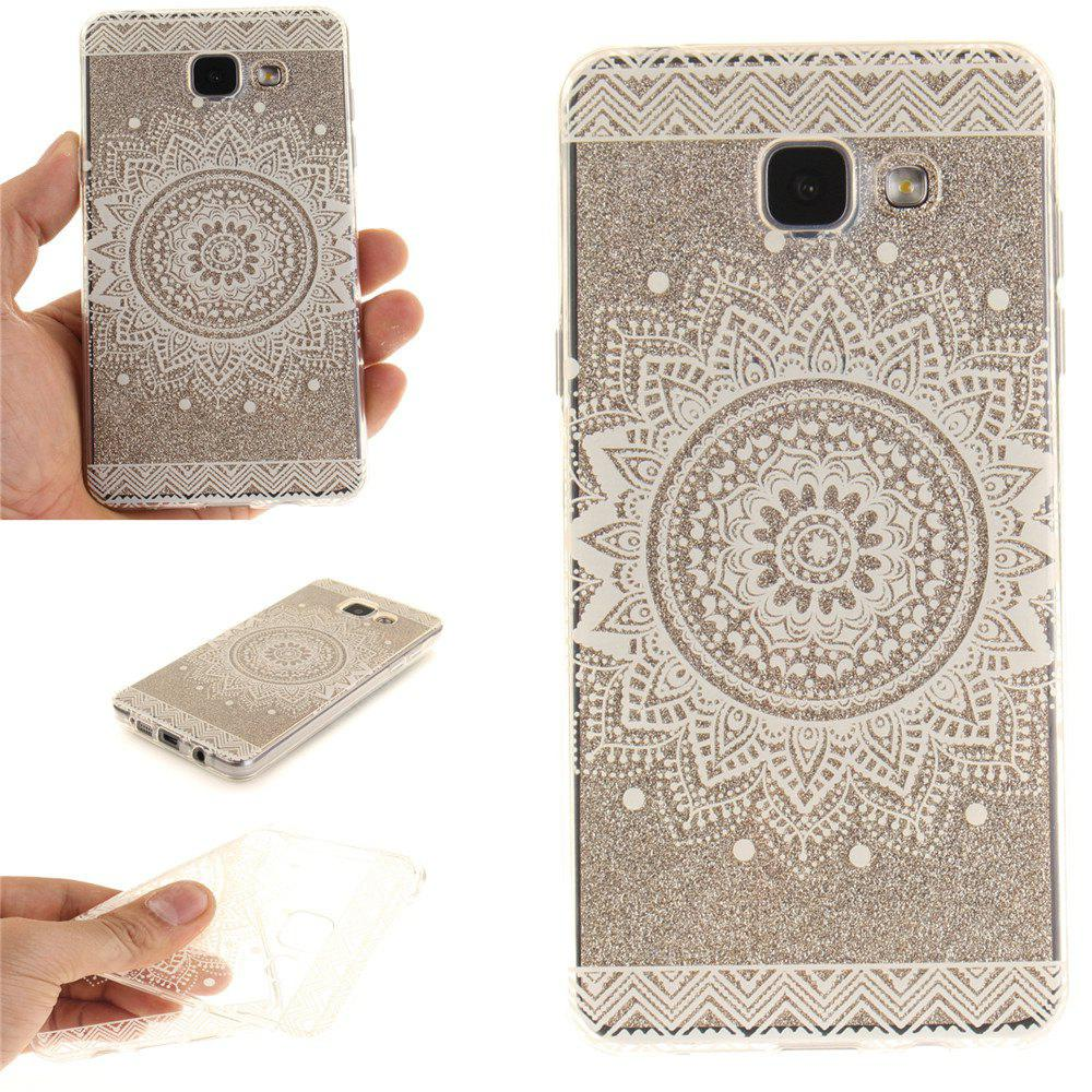 O White Mandala Soft Clear IMD TPU Phone Casing Mobile Smart Cover Capa Shell para Samsung A310 2016