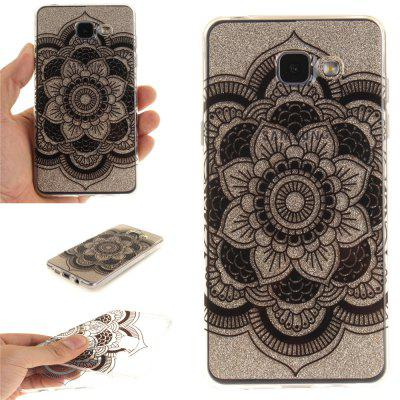 Black Sunflower Soft Clear IMD TPU Phone Casing Mobile Smartphone Cover Shell Case for Samsung A310 2016