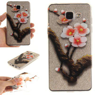 The four plum flower Soft Clear IMD TPU Phone Casing Mobile Smartphone Cover Shell Case for Samsung A310 2016