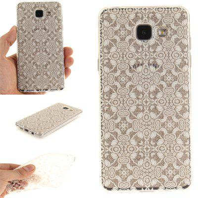 White Lace Soft Clear IMD TPU Phone Casing Mobile Smartphone Cover Shell Case for Samsung A310 2016