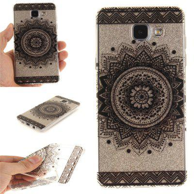 Black Datura Soft Clear IMD TPU Phone Casing Mobile Smartphone Cover Shell Case for Samsung A310 2016