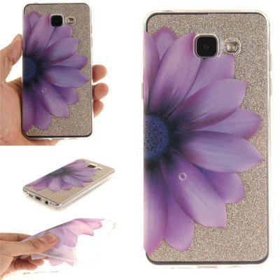 Half The Flower Soft Clear IMD TPU Phone Casing Mobile Smartphone Cover Shell Case for Samsung A310 2016