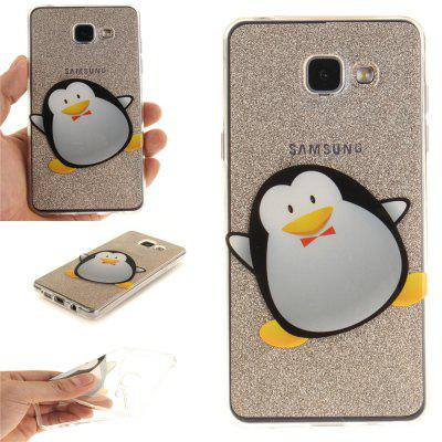 Cartoon Penguin Soft Clear IMD TPU Phone Casing Mobile Smartphone Cover Shell Case for Samsung A310 2016