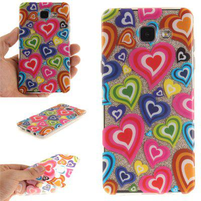Color of Love Soft Clear IMD TPU Phone Casing Mobile Smartphone Cover Shell Case for Samsung A310 2016