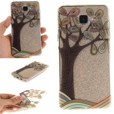 Hand Draw A Tree Soft Clear IMD TPU Phone Casing Mobile Smartphone Cover Shell Case for Samsung A310 2016
