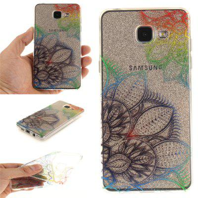 Fantasy Flowers Soft Clear IMD TPU Phone Casing Mobile Smartphone Cover Shell Case for Samsung A310 2016
