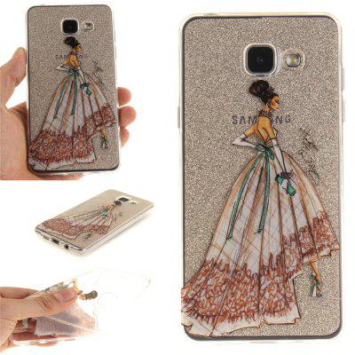 Hand-Painted Dress Soft Clear IMD TPU Phone Casing Mobile Smartphone Cover Shell Case for Samsung A310 2016