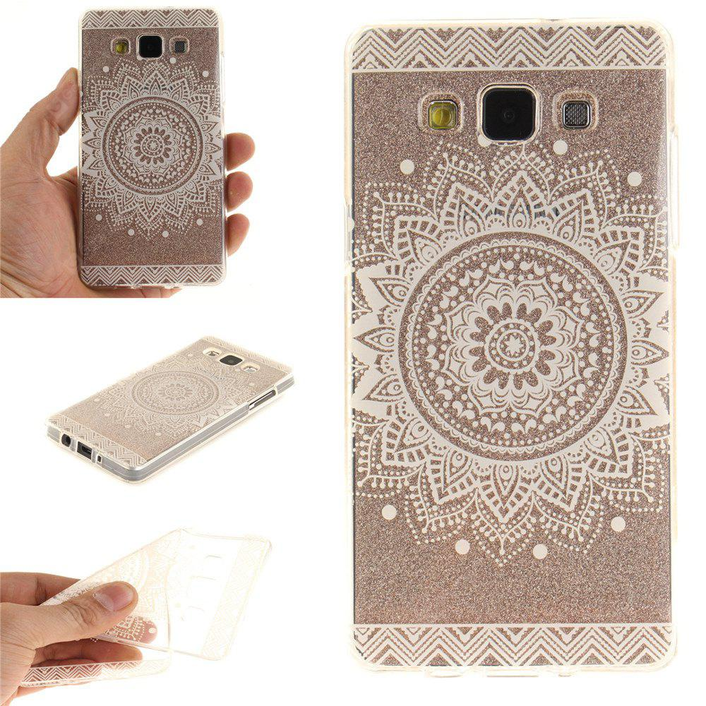 O White Mandala Soft Clear IMD TPU Phone Casing Mobile Smartphone Cover Shell Case para Samsung A5 2015