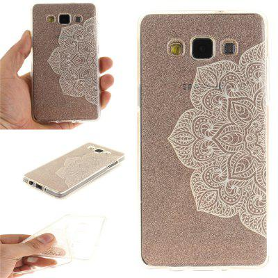Half of White Flowers Soft Clear IMD TPU Phone Casing Mobile Smartphone Cover Shell Case for Samsung A5 2015