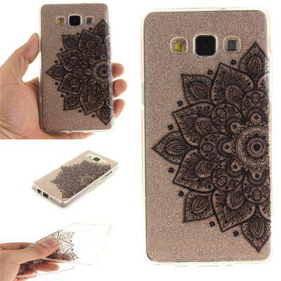 Black Half Flower Soft Clear IMD TPU Phone Casing Mobile Smartphone Cover Shell Case for Samsung A5 2015