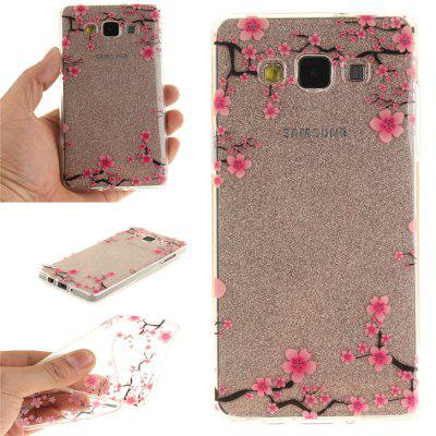 Up and Down The Plum BlossomSoft Clear IMD TPU Phone Casing Mobile Smartphone Cover Shell Case for Samsung A5 2015