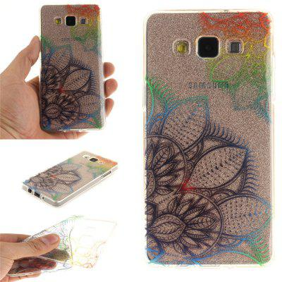 Fantasy Flowers Soft Clear IMD TPU Phone Casing Estojo de capa móvel Smart Shell para Samsung A5 2015