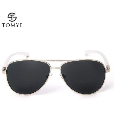 TOMYE P1012 Mens  Aviator Polarized SunglassesTOMYE P1012 Mens  Aviator Polarized Sunglasses<br><br>Brand: TOMYE<br>Frame Length: 142mm<br>Frame material: Alloy<br>Gender: For Men<br>Group: Adult<br>Lens height: 50mm<br>Lens material: Resin<br>Lens width: 64mm<br>Lenses Optical Attribute: Polarized<br>Nose: 15mm<br>Package Contents: 1 x Pair of Sunglasses<br>Package size (L x W x H): 16.00 x 7.00 x 7.00 cm / 6.3 x 2.76 x 2.76 inches<br>Package weight: 0.0500 kg<br>Product weight: 0.0260 kg<br>Style: Pilot<br>Temple Length: 128mm
